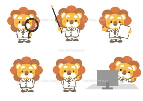 医療イメージ ライオンの先生の素材 [FYI01157576]