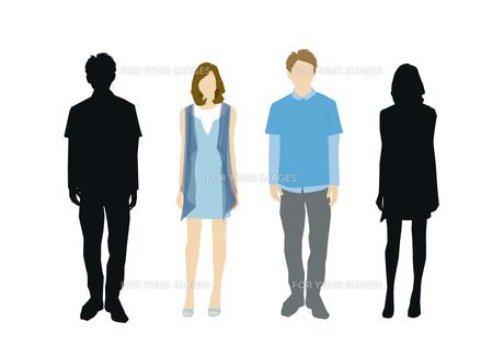 男性と女性の素材 [FYI01157662]