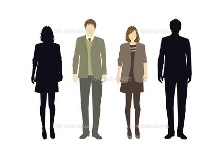 男性と女性の素材 [FYI01157686]