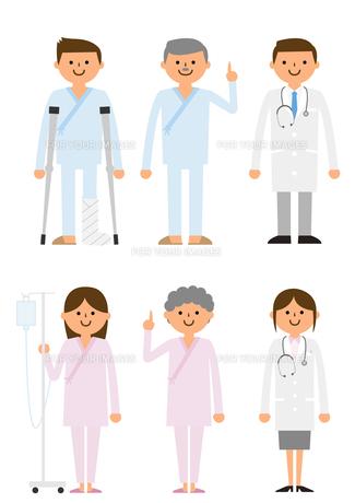 患者と医者の素材 [FYI01157737]