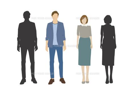 男性と女性の素材 [FYI01157797]