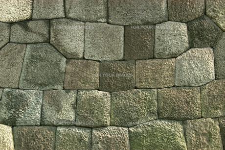 石垣(バックグラウンド)の素材 [FYI01158418]