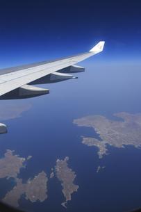エーゲ海のキクラデス諸島上空の素材 [FYI01158711]