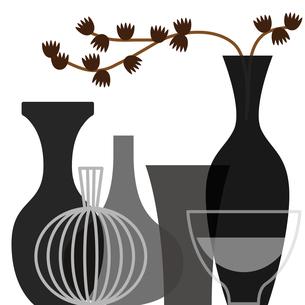 花瓶と植物のイラスト素材 [FYI01159003]