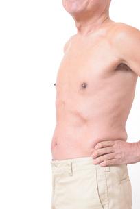 健康体シニアの上半身の写真素材 [FYI01159185]