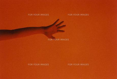 赤い手の写真素材 [FYI01159331]