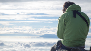 山頂 雲海の写真素材 [FYI01159385]