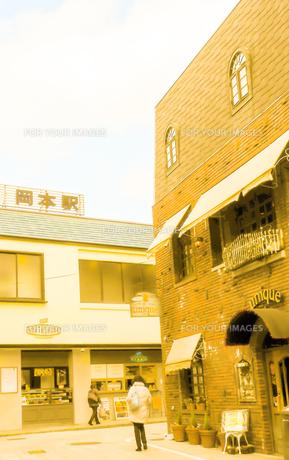 神戸岡本散歩の写真素材 [FYI01159636]