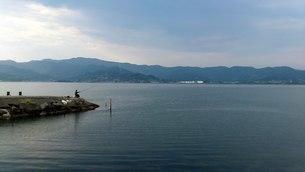 釣り人と海の写真素材 [FYI01159732]
