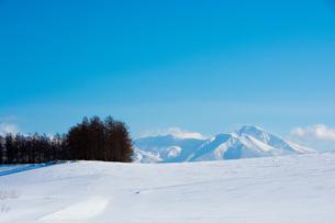 青空と冬山の写真素材 [FYI01160076]