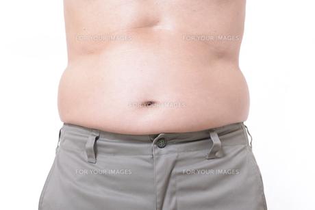 シニアのメタボなお腹の写真素材 [FYI01160447]