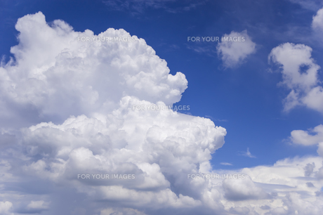 夏の空と入道雲の写真素材 [FYI01160643]