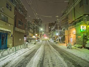 雪 道路の写真素材 [FYI01160825]