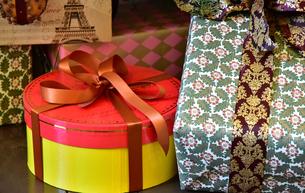 プレゼントの箱の写真素材 [FYI01161114]