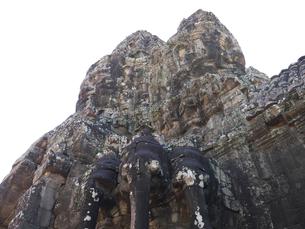 世界遺産 カンボジア アンコールトム南大門の写真素材 [FYI01161695]