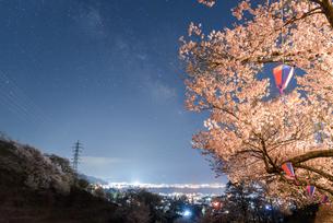 水月公園 夜桜の写真素材 [FYI01161852]
