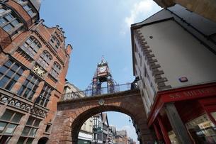 イギリス チェスター イーストゲート時計台の写真素材 [FYI01161948]