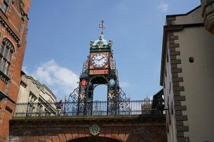 イギリス チェスター イーストゲート時計台の写真素材 [FYI01161951]