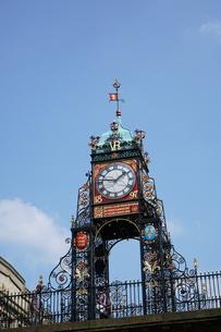 イギリス チェスター イーストゲート時計台の写真素材 [FYI01161952]