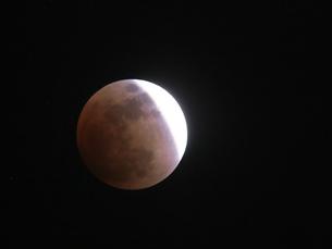 皆既月食 2018年1月31日 観測地東京の写真素材 [FYI01161973]