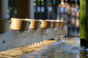 正月の明治神宮 手水舎のつららの写真素材 [FYI01162293]