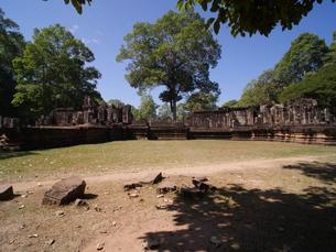 カンボジア アンコール・トム 象のテラスの写真素材 [FYI01162323]