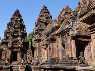 カンボジア バンテアイ・スレイ遺跡の写真素材 [FYI01162326]