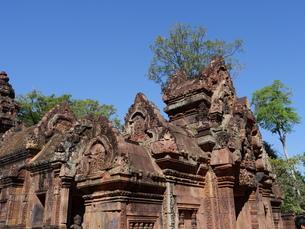 カンボジア バンテアイ・スレイ遺跡の写真素材 [FYI01162328]