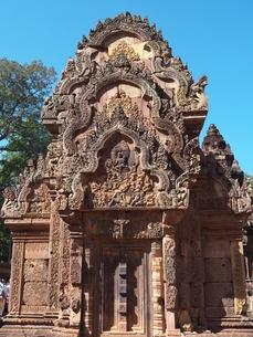 カンボジア バンテアイ・スレイ遺跡の写真素材 [FYI01162329]