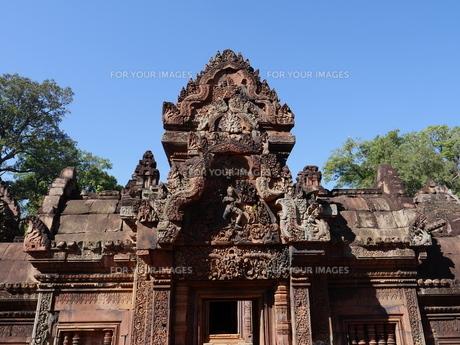 カンボジア バンテアイ・スレイ遺跡の写真素材 [FYI01162331]