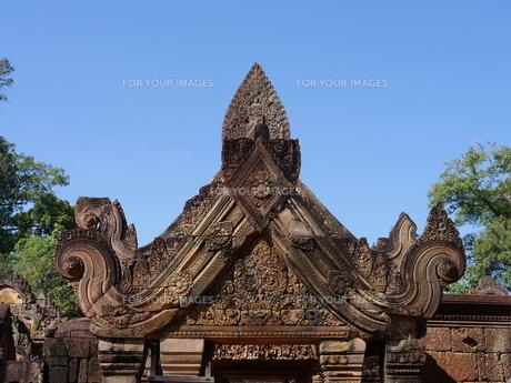 カンボジア バンテアイ・スレイ遺跡の写真素材 [FYI01162333]