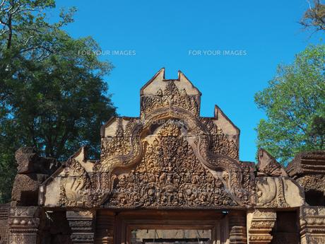 カンボジア バンテアイ・スレイ遺跡の写真素材 [FYI01162336]