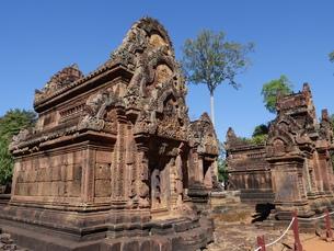 カンボジア バンテアイ・スレイ遺跡の写真素材 [FYI01162338]