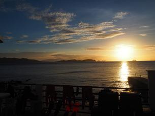 海辺の夕景の写真素材 [FYI01162342]