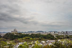 春の姫路城の風景の写真素材 [FYI01162523]