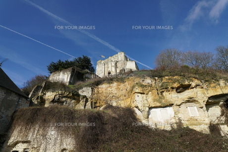 廃墟となったモントリシャール城の写真素材 [FYI01162664]