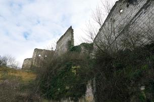 廃墟となったモントリシャール城の写真素材 [FYI01162676]