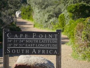 南アフリカ ケープポイントの登山口標識の写真素材 [FYI01162705]