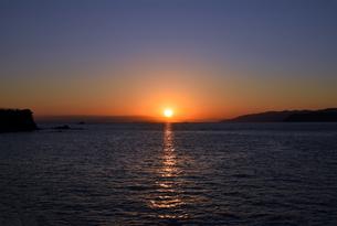 紀伊水道の夕焼けの写真素材 [FYI01162822]