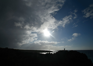 沖縄・残波岬の荒波の写真素材 [FYI01162911]