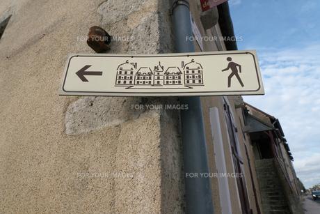 フランスの観光地の標識の写真素材 [FYI01163064]
