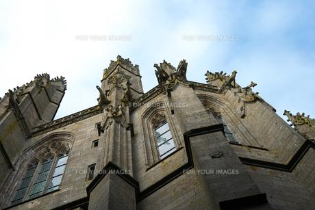 フランスの教会のガーゴイルの写真素材 [FYI01163273]