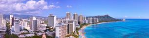 ワイキキビーチの風景の写真素材 [FYI01163509]