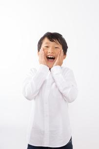 驚く少年の写真素材 [FYI01163856]