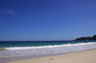 白浜海岸(伊豆、下田)快晴の浜辺の写真素材 [FYI01164382]