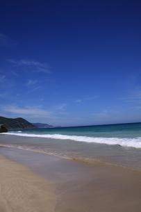 白浜海岸(伊豆、下田)快晴の浜辺の写真素材 [FYI01164385]