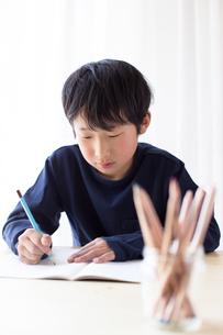 勉強をする少年の写真素材 [FYI01164396]