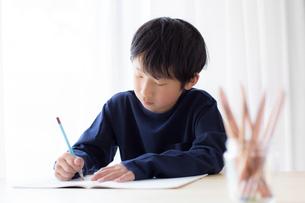 勉強をする少年の写真素材 [FYI01164397]