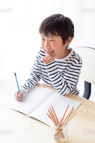勉強をする少年の写真素材 [FYI01164399]