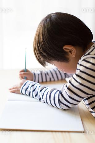 勉強をする少年の写真素材 [FYI01164411]